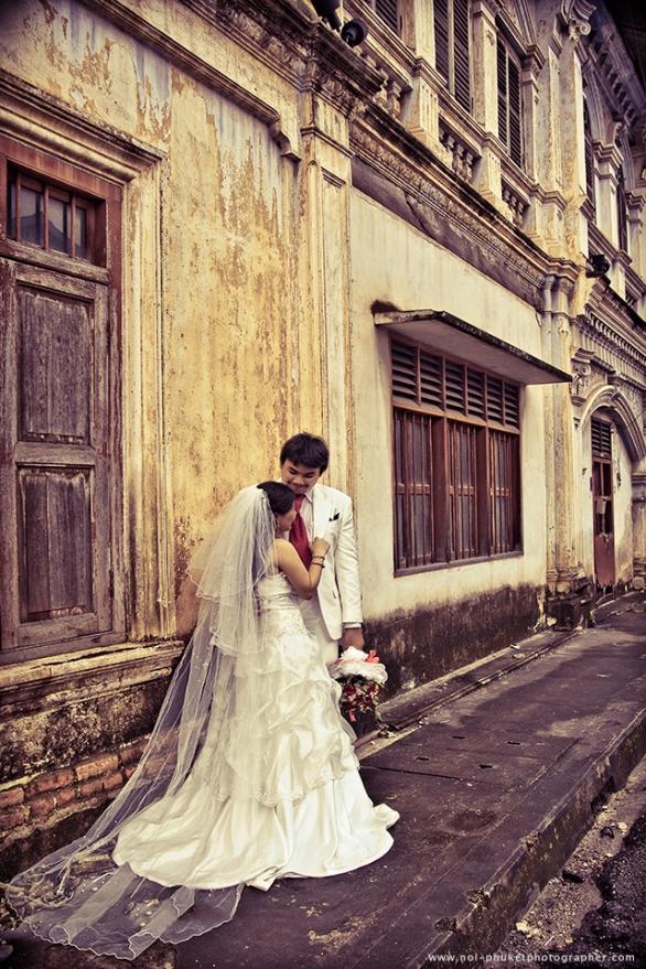 pre wedding photography at phuket old town