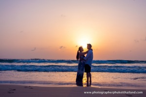 couple on kata beach,phuket