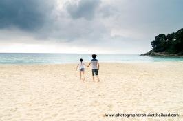 couple photography at surin beach , phuket , thailand