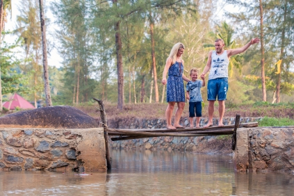 family photoshoot at khaolak phangnga thailand