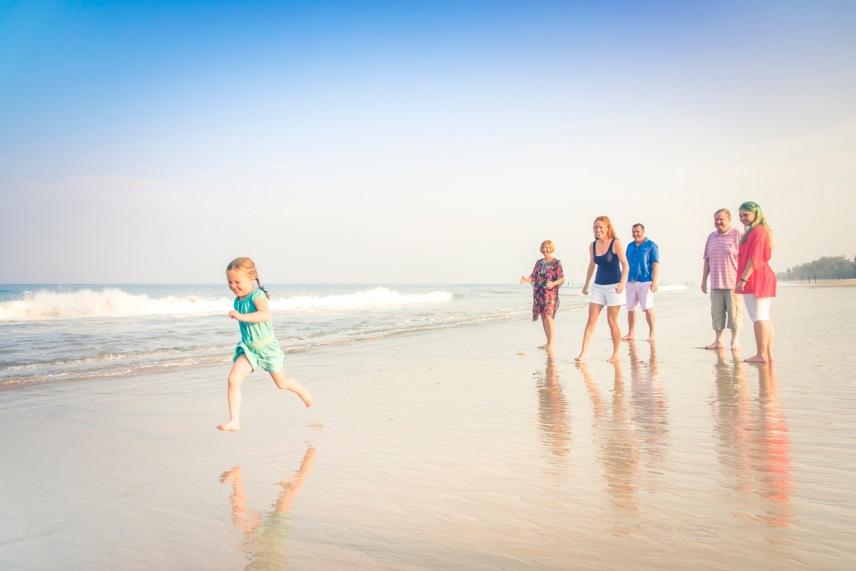 family photography at Sava natai beach phangnga thailand
