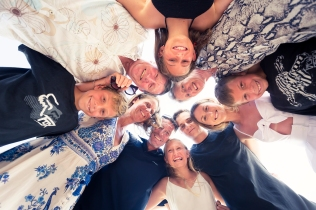 family reunion photo session at karon beach phuket thailand