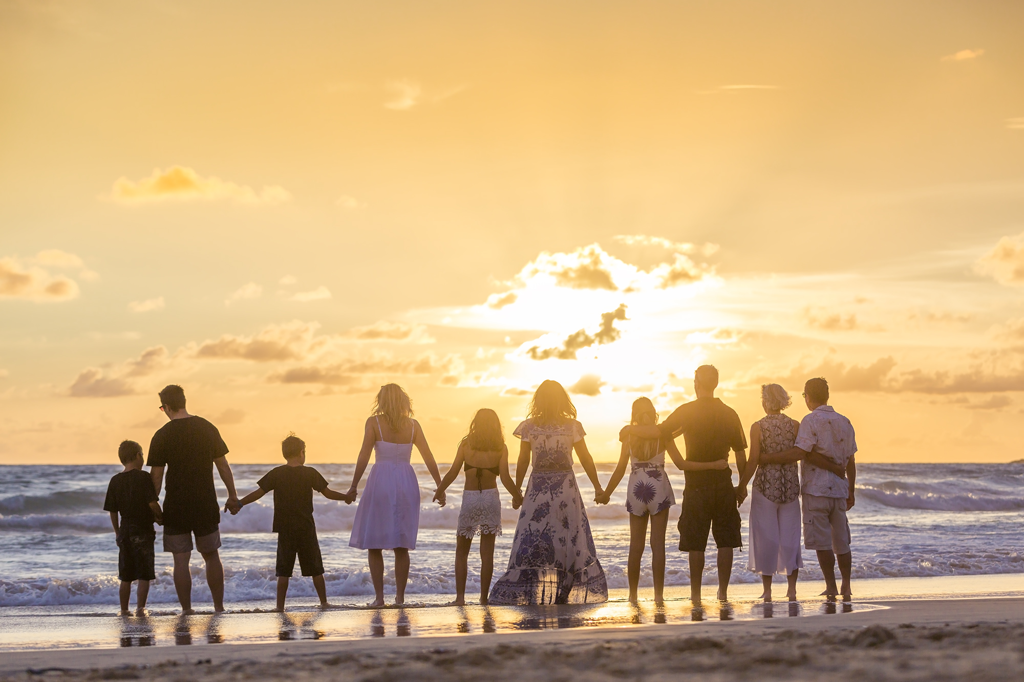 family reunion photo session at karon beach phuket thailand