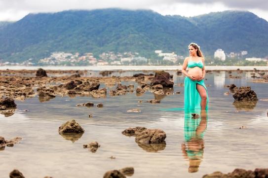 maternity photo session at Patong beach Phuket