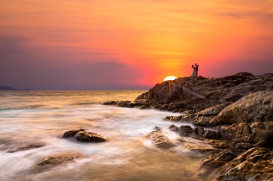 pre wedding photography at Kalim beach Phuket