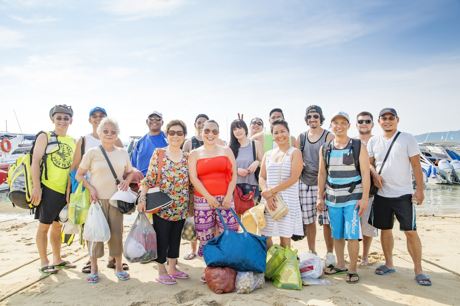 family reunion photo session at Coral island Phuket Thailand