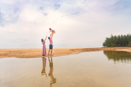 family photo shooting at khao lak phang nga thailand