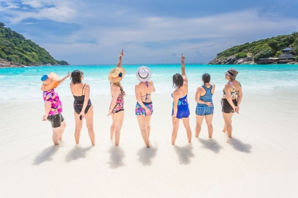 party photo session at Racha island Phuket Thailand