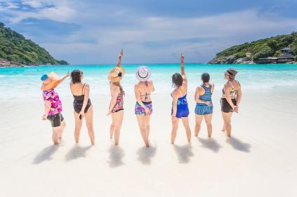 party photo session at Racha island Phuket Thailand