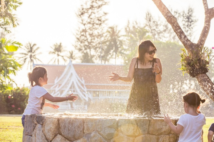 family photo session at angsana laguna phuket thailand