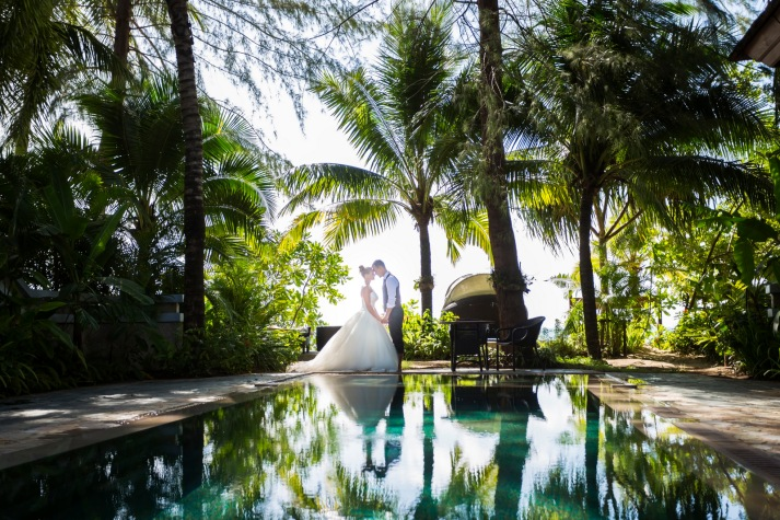 post wedding photo session at khao lak Phang nga Thailand