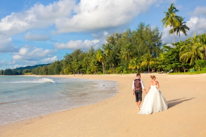 post wedding photo session at khao lak Phang nga Thailand
