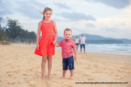 family photoshoot at karon beach phuket thailand
