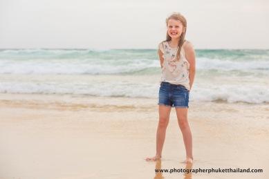 family photoshoot at karon beach phuket thailand