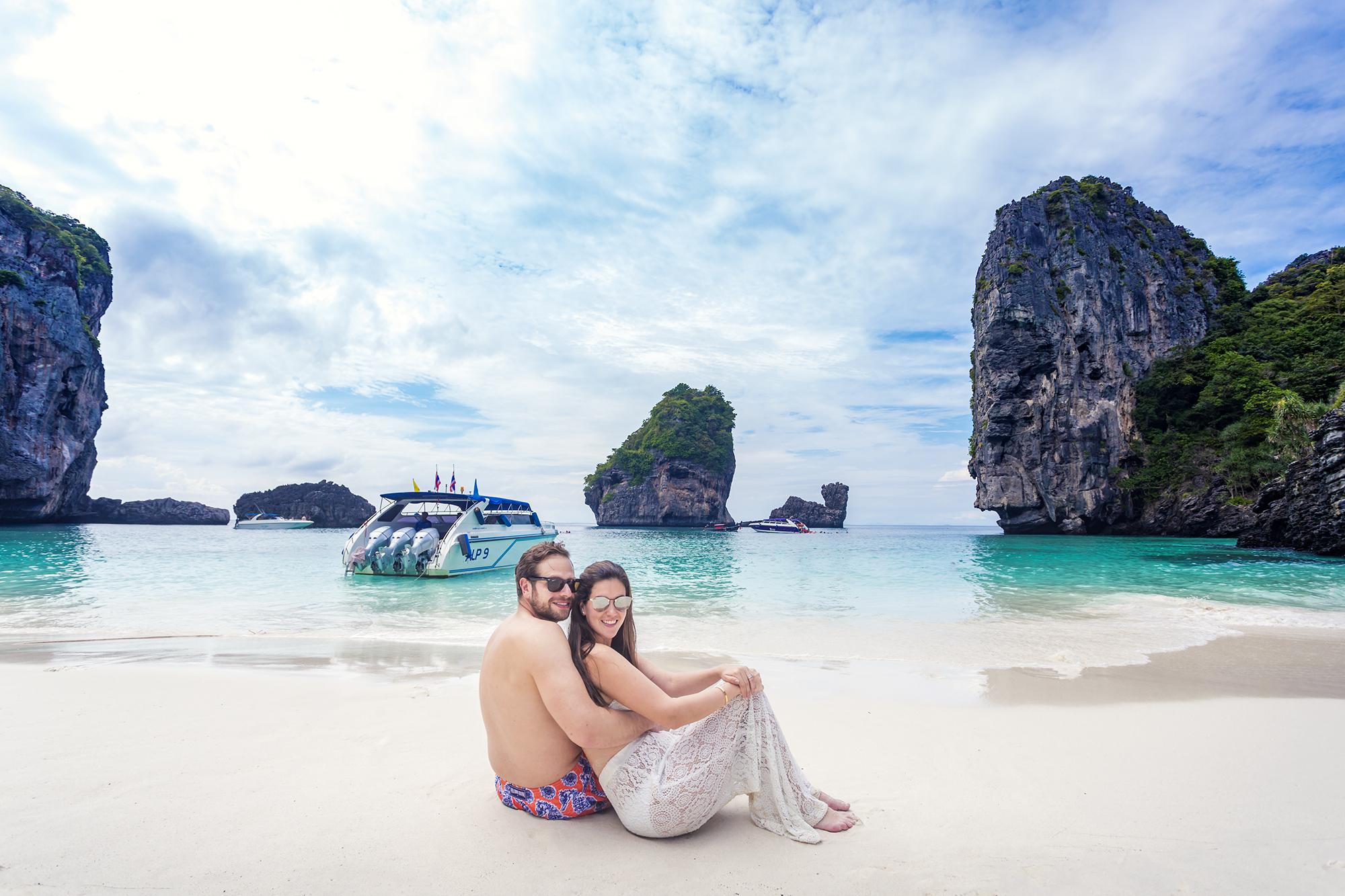 HONEYMOON PHOTOSHOOT AT PHIPHI KRABI Thailand