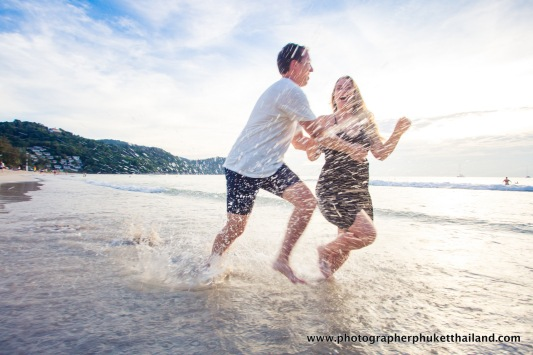 couple photo shooting at kata noi beach Phuket