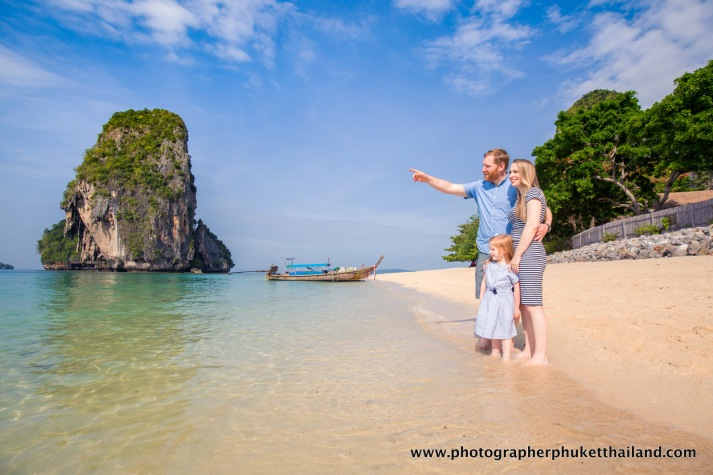 family photo shooting at pra nang cave beach Krabi