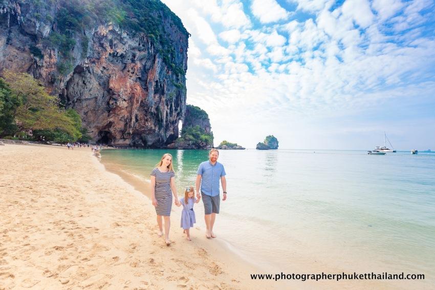 family photo shooting at pra nang cave beach Krabi