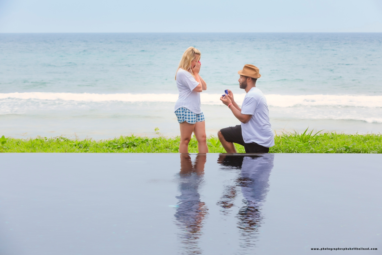 marriage proposal photoshoot at the naka phuket