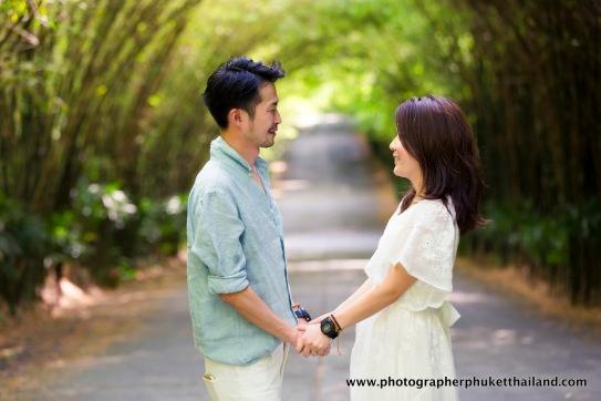 couple photoshoot at the Pavillion phuket