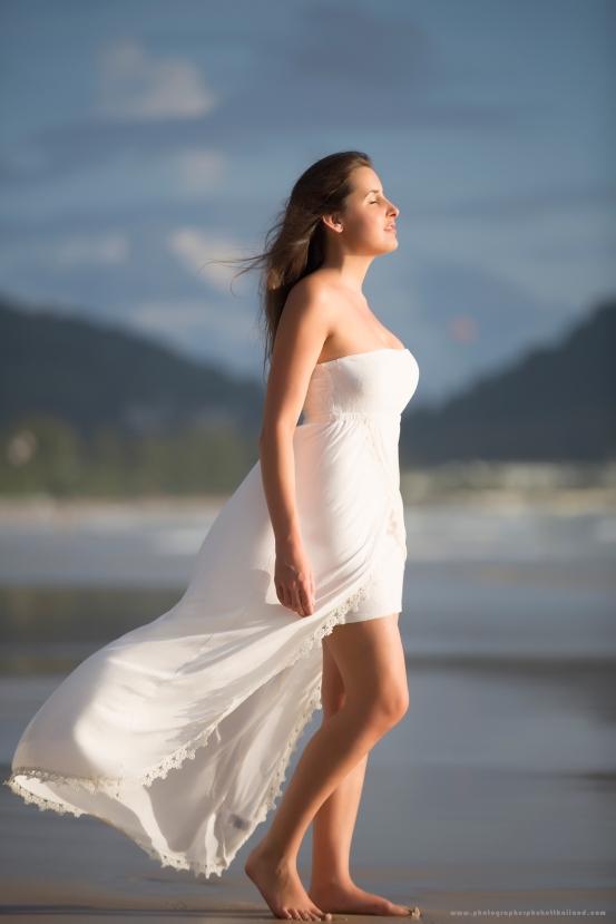 portrait photoshoot at patong beach phuket thailand