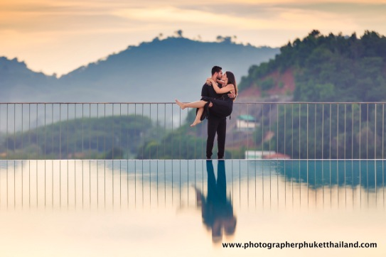 couple photoshoot at como point yamu Phuket