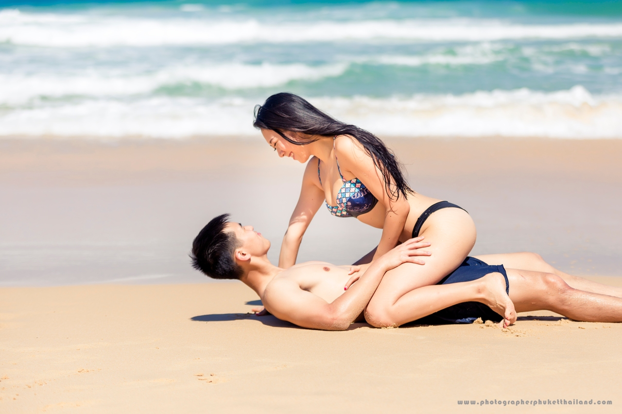 couple photo shooting at surin beach phuket