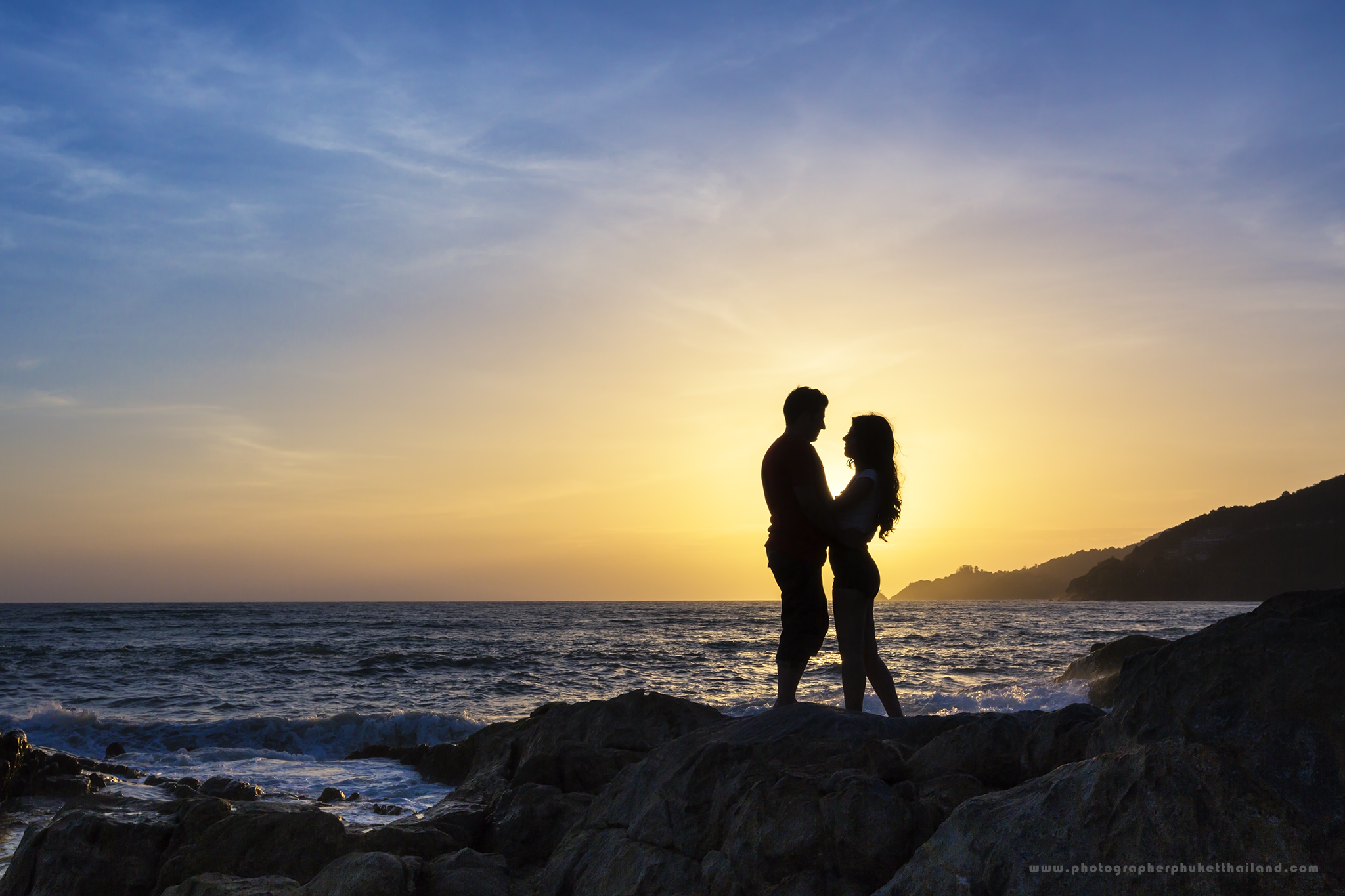 Engagement photoshoot at kalim beach Phuket