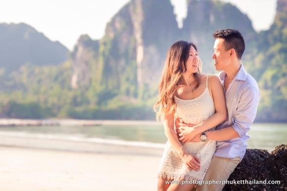 couple photoshoot at Railay beach Krabi Thailand