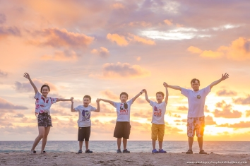 family photoshoot at kamala beach phuket