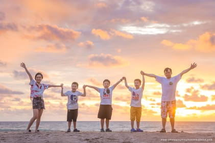family photoshoot at kamala beach phuket
