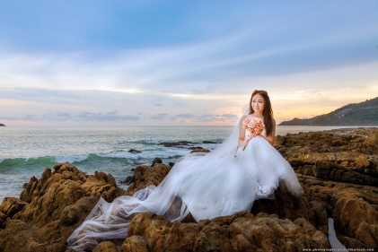 Bride at Kalim bay phuket
