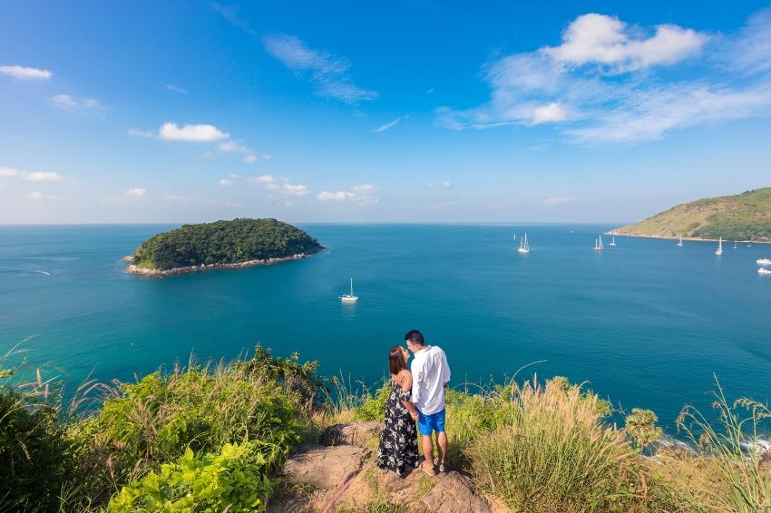 honeymoon photo shooting at windmill viewpoint phuket