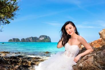 pre wedding photoshoot at Bamboo island