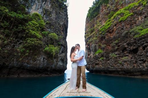 Honeymoon photoshoot at Phi Phi island Krabi Thailand