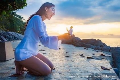 Honey moon couple photoshoot at surin beach phuket