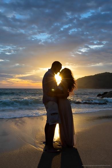 Honeymoon photoshoot at Ya nui beach Phuket Thailand