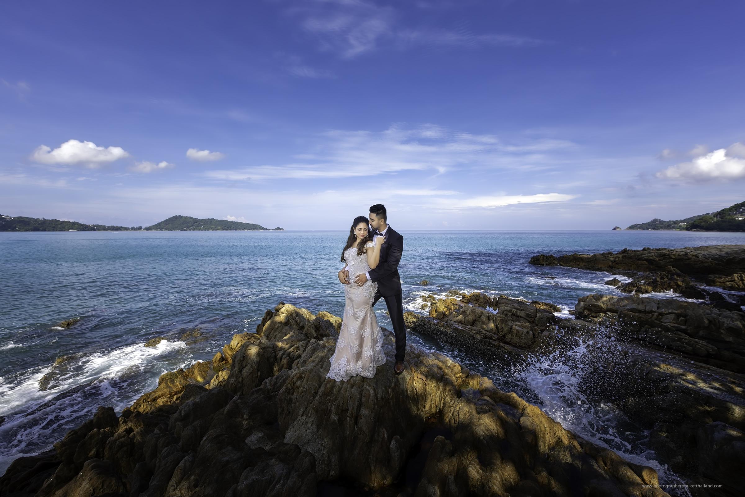 pre wedding photoshoot at kalim beach phuket by photographerphuketthailand