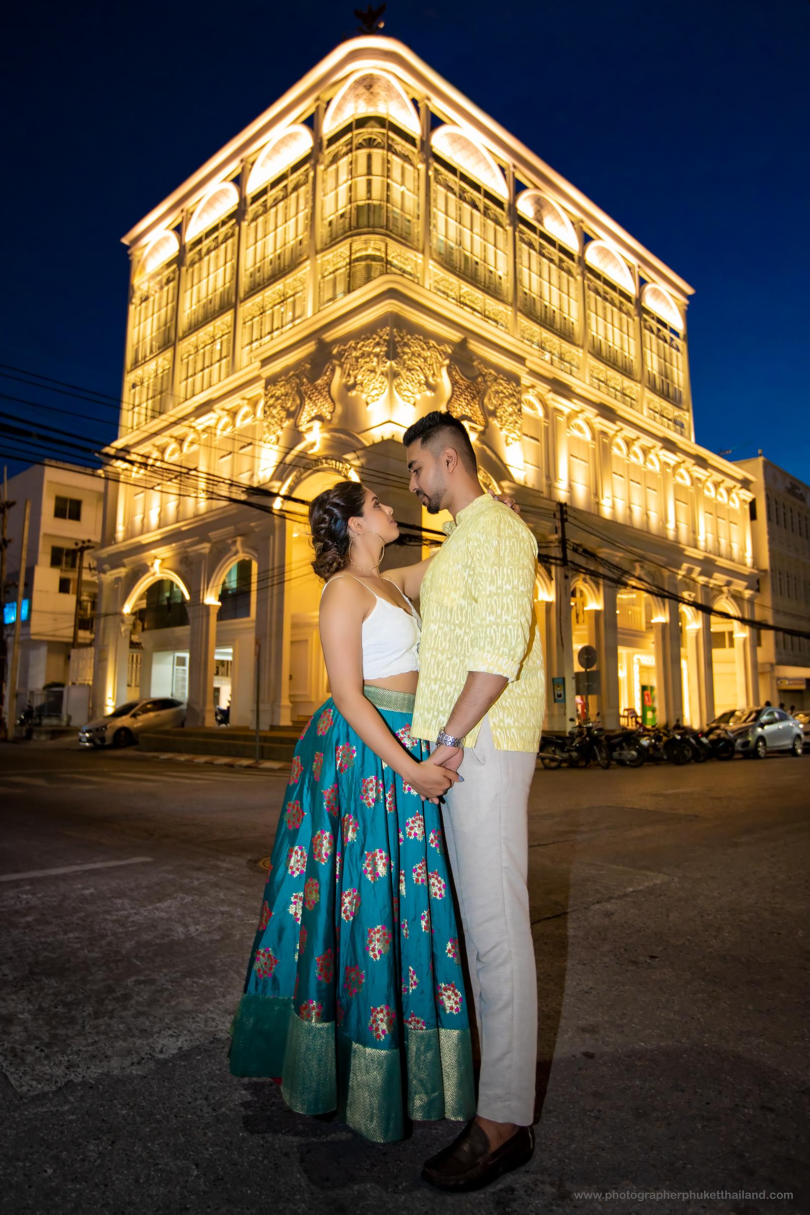 engagement photoshoot at Old phuket town