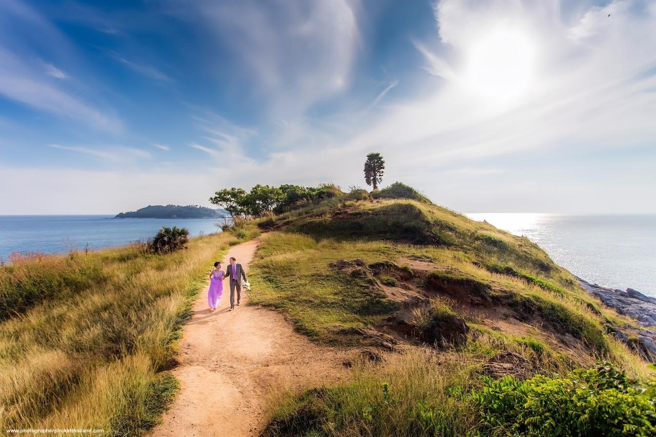pre wedding photoshoot at promthep cape phuket thailand