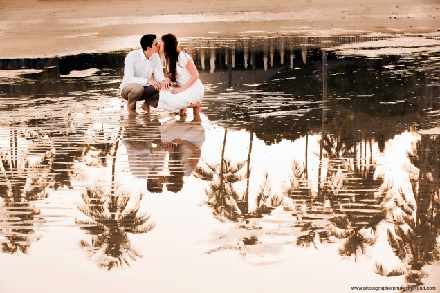 Honeymoon photo session at phi phi krabi thailand