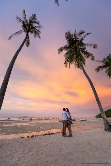 Marriage proposal at phi phi island krabi Thailand