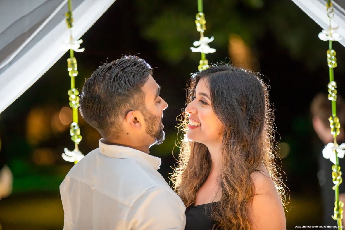 Marriage proposal at Phi Phi island Krabi