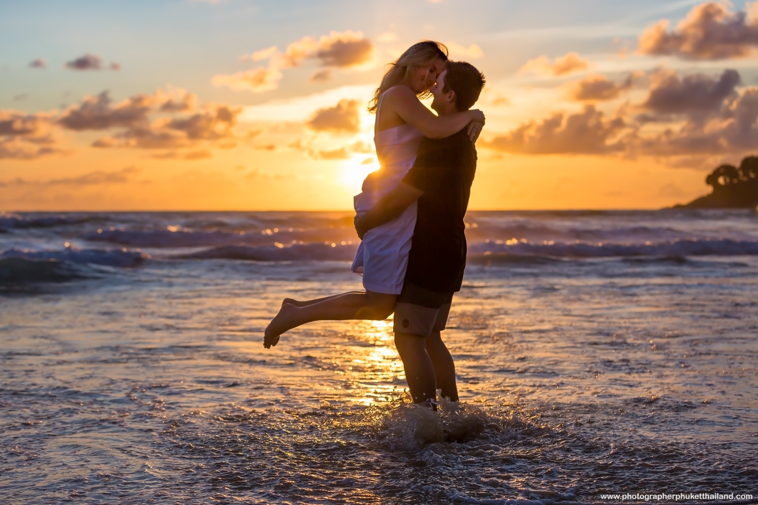 honeymoon photoshoot at karon beach Phuket Thailand
