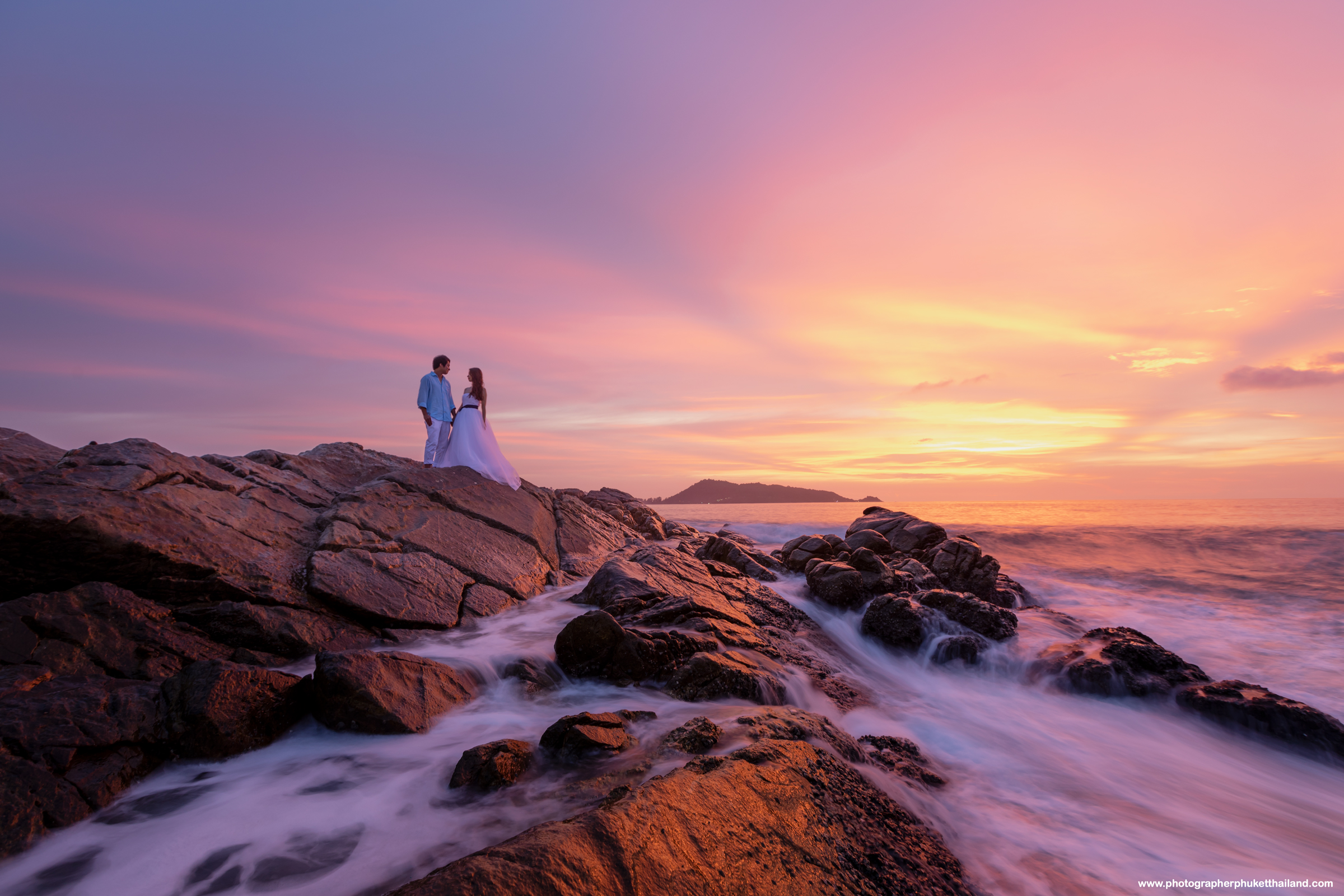 phuket pre wedding photoshoot at kalim bay phuket Thailand
