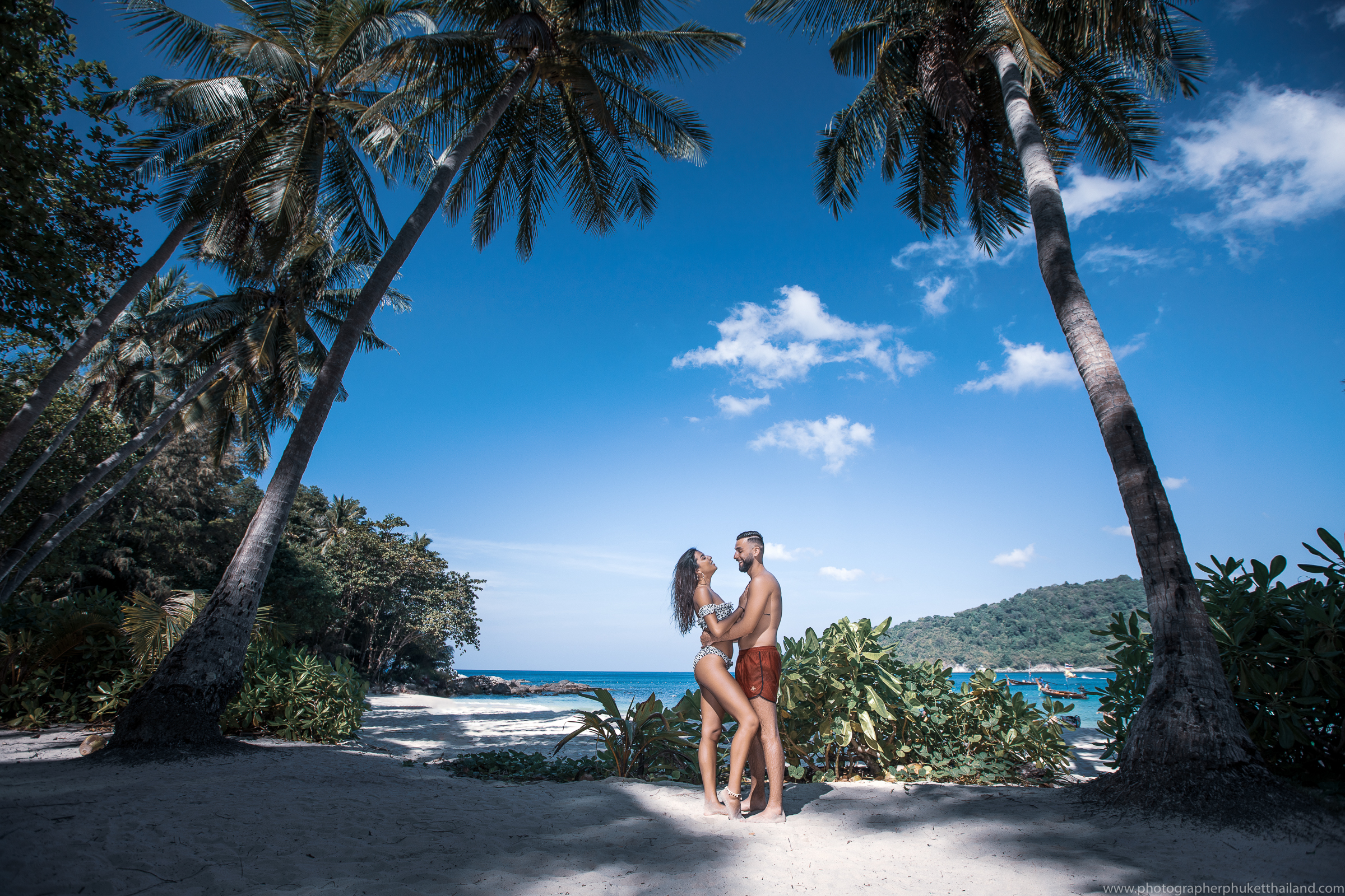 Honeymoon photoshoot at freedom beach Phuket